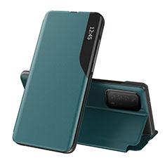 Handytasche Stand Schutzhülle Flip Leder Hülle L07 für Huawei Y7a Cyan