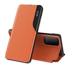 Handytasche Stand Schutzhülle Flip Leder Hülle L07 für Huawei Y7a Orange