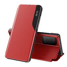 Handytasche Stand Schutzhülle Flip Leder Hülle L07 für Huawei Y7a Rot