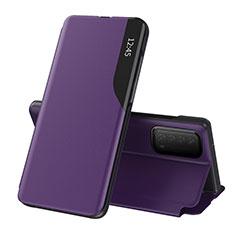 Handytasche Stand Schutzhülle Flip Leder Hülle L07 für Huawei Y7a Violett