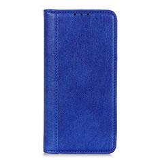 Handytasche Stand Schutzhülle Flip Leder Hülle L07 für LG K52 Blau