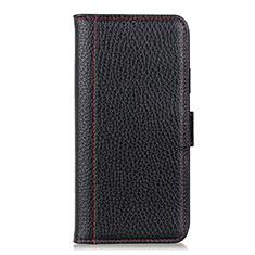 Handytasche Stand Schutzhülle Flip Leder Hülle L07 für Motorola Moto G8 Power Schwarz