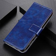 Handytasche Stand Schutzhülle Flip Leder Hülle L07 für Motorola Moto G9 Plus Blau