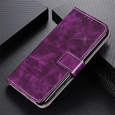 Handytasche Stand Schutzhülle Flip Leder Hülle L07 für Motorola Moto G9 Plus Violett