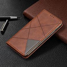 Handytasche Stand Schutzhülle Flip Leder Hülle L07 für Samsung Galaxy A41 Braun