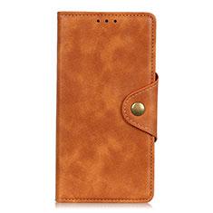 Handytasche Stand Schutzhülle Flip Leder Hülle L07 für Samsung Galaxy S21 Plus 5G Braun
