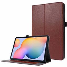 Handytasche Stand Schutzhülle Flip Leder Hülle L07 für Samsung Galaxy Tab S7 4G 11 SM-T875 Braun