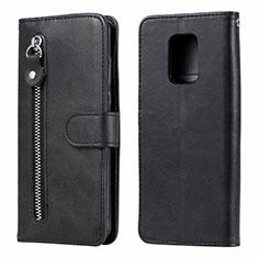 Handytasche Stand Schutzhülle Flip Leder Hülle L07 für Xiaomi Redmi Note 9 Pro Schwarz