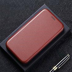 Handytasche Stand Schutzhülle Flip Leder Hülle L08 für Huawei Y7a Braun