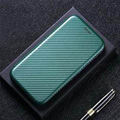 Handytasche Stand Schutzhülle Flip Leder Hülle L08 für Huawei Y7a Grün