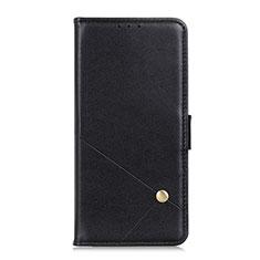 Handytasche Stand Schutzhülle Flip Leder Hülle L08 für LG K52 Schwarz
