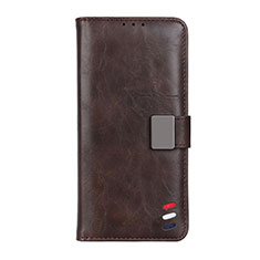 Handytasche Stand Schutzhülle Flip Leder Hülle L08 für Motorola Moto G9 Power Braun