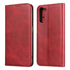 Handytasche Stand Schutzhülle Flip Leder Hülle L08 für Oppo Reno3 A Rot