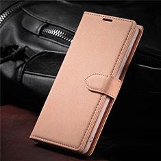 Handytasche Stand Schutzhülle Flip Leder Hülle L08 für Samsung Galaxy S21 Ultra 5G Rosegold