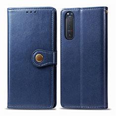 Handytasche Stand Schutzhülle Flip Leder Hülle L08 für Sony Xperia 5 II Blau