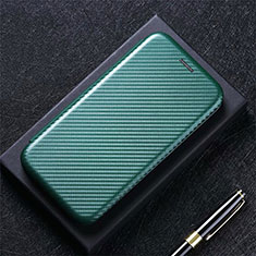 Handytasche Stand Schutzhülle Flip Leder Hülle L09 für LG K52 Grün