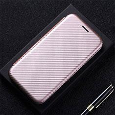 Handytasche Stand Schutzhülle Flip Leder Hülle L09 für LG K52 Rosegold