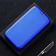Handytasche Stand Schutzhülle Flip Leder Hülle L09 für LG Q52 Blau