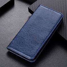 Handytasche Stand Schutzhülle Flip Leder Hülle L09 für Motorola Moto G 5G Blau