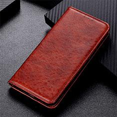 Handytasche Stand Schutzhülle Flip Leder Hülle L09 für Motorola Moto G 5G Braun