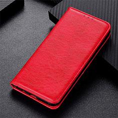 Handytasche Stand Schutzhülle Flip Leder Hülle L09 für Motorola Moto G 5G Rot