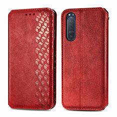 Handytasche Stand Schutzhülle Flip Leder Hülle L09 für Sony Xperia 5 II Rot