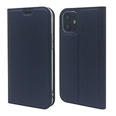 Handytasche Stand Schutzhülle Flip Leder Hülle L10 für Apple iPhone 12 Königs Blau