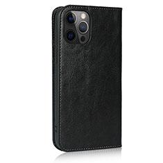 Handytasche Stand Schutzhülle Flip Leder Hülle L10 für Apple iPhone 12 Pro Schwarz