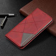 Handytasche Stand Schutzhülle Flip Leder Hülle L10 für Huawei Y6p Rot