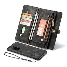 Handytasche Stand Schutzhülle Flip Leder Hülle L10 für Samsung Galaxy Note 20 5G Schwarz