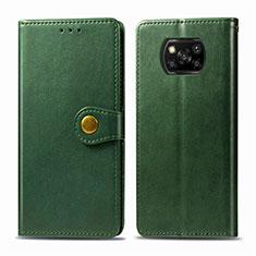 Handytasche Stand Schutzhülle Flip Leder Hülle L10 für Xiaomi Poco X3 NFC Grün
