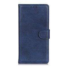 Handytasche Stand Schutzhülle Flip Leder Hülle L11 für Motorola Moto Edge Blau