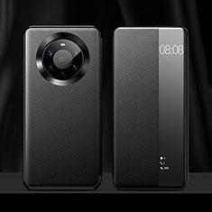 Handytasche Stand Schutzhülle Flip Leder Hülle L12 für Huawei Mate 40 Pro+ Plus Schwarz