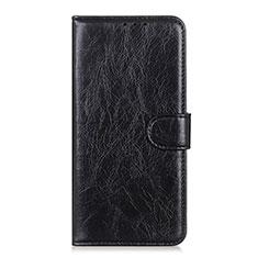 Handytasche Stand Schutzhülle Flip Leder Hülle L12 für Huawei Y5p Schwarz