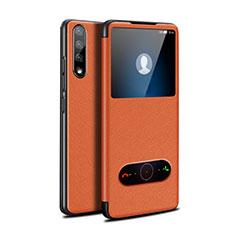 Handytasche Stand Schutzhülle Flip Leder Hülle L12 für Huawei Y8p Orange