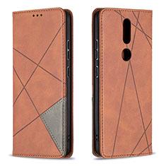 Handytasche Stand Schutzhülle Flip Leder Hülle L12 für Nokia 2.4 Braun