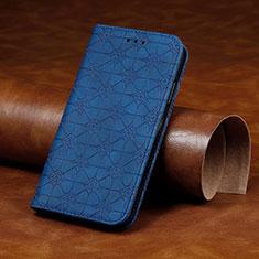 Handytasche Stand Schutzhülle Flip Leder Hülle L17 für Huawei P40 Lite E Blau