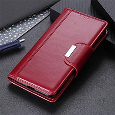 Handytasche Stand Schutzhülle Flip Leder Hülle L17 für Huawei P40 Lite Fuchsie
