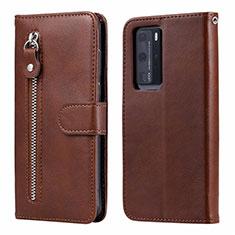 Handytasche Stand Schutzhülle Flip Leder Hülle N01 für Huawei P40 Pro Braun