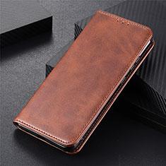 Handytasche Stand Schutzhülle Flip Leder Hülle N03 für Huawei P40 Braun