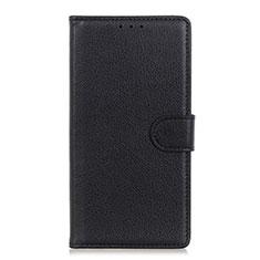 Handytasche Stand Schutzhülle Flip Leder Hülle N04 für Huawei P40 Schwarz