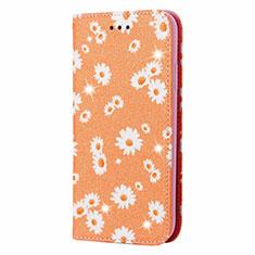 Handytasche Stand Schutzhülle Flip Leder Hülle N05 für Samsung Galaxy Note 20 Ultra 5G Orange