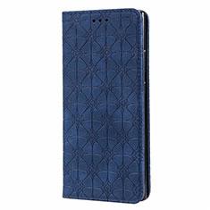 Handytasche Stand Schutzhülle Flip Leder Hülle N06 für Samsung Galaxy Note 20 Ultra 5G Blau