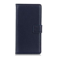 Handytasche Stand Schutzhülle Flip Leder Hülle N08 für Huawei P40 Königs Blau