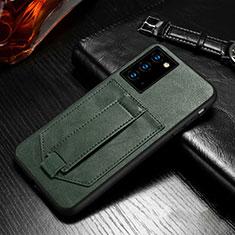 Handytasche Stand Schutzhülle Flip Leder Hülle N08 für Samsung Galaxy Note 20 5G Nachtgrün
