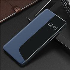 Handytasche Stand Schutzhülle Flip Leder Hülle N09 für Huawei P40 Blau