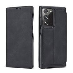 Handytasche Stand Schutzhülle Flip Leder Hülle N09 für Samsung Galaxy Note 20 5G Schwarz