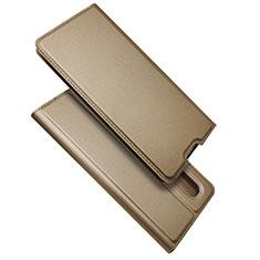 Handytasche Stand Schutzhülle Flip Leder Hülle S01 für Oppo Find X2 Pro Gold