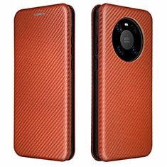 Handytasche Stand Schutzhülle Flip Leder Hülle T01 für Huawei Mate 40 Pro Braun