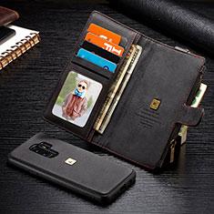 Handytasche Stand Schutzhülle Flip Leder Hülle T01 für Samsung Galaxy S9 Plus Schwarz